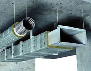 离心玻璃棉应用于空调风管