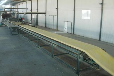离心玻璃棉生产制作工艺流程图